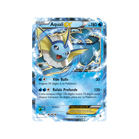 Aquali ex 180pv 24 83 g n rations collection g n rations - Carte pokemon aquali ...
