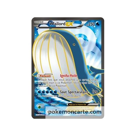 Wailord ex 250 pv 147 160 primo choc - Carte pokemon wailord ...